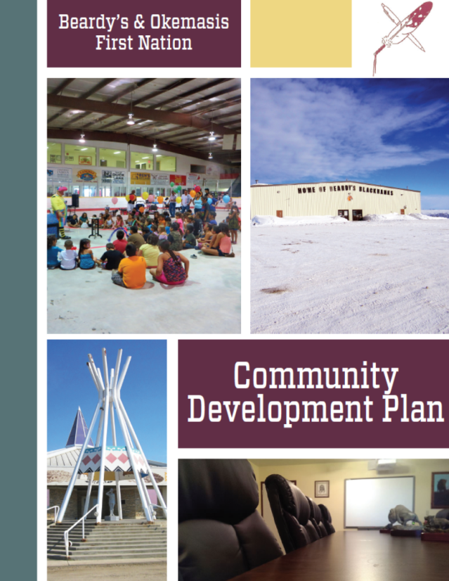 Click the image to download your copy of the Beardy's & Okemasis First Nation Community Development Plan.